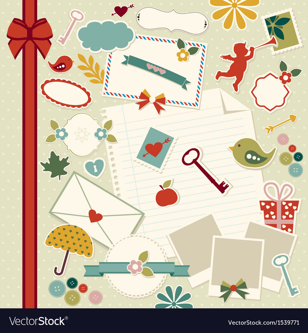 Scrapbook elements vector | Price: 1 Credit (USD $1)