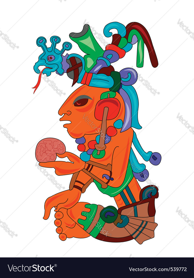Aztec character vector | Price: 1 Credit (USD $1)