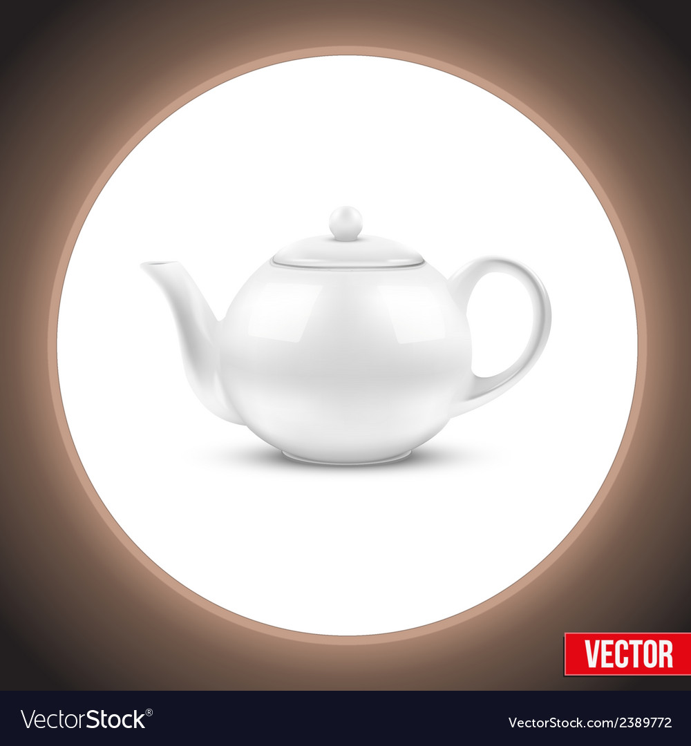 Background of white ceramic teapot vector | Price: 1 Credit (USD $1)