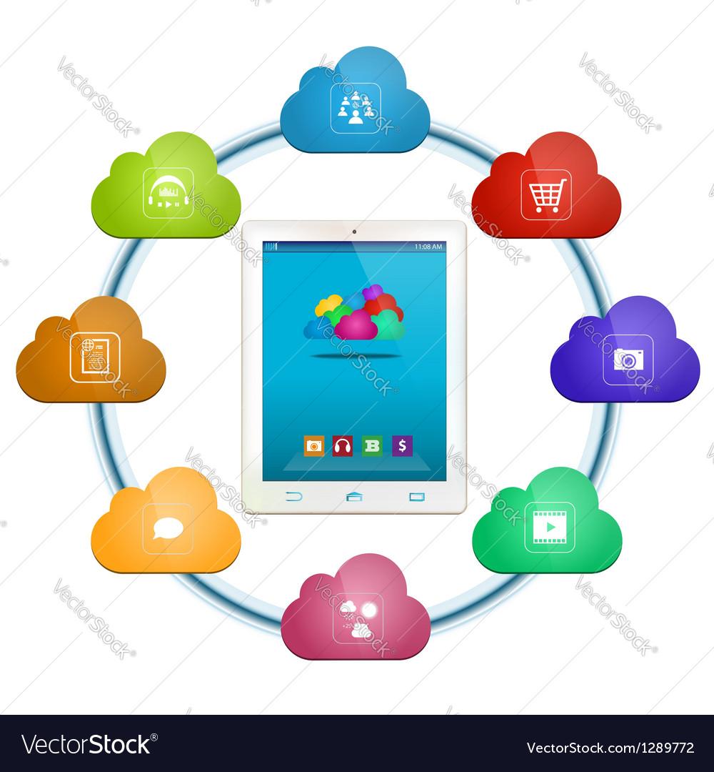 Cloud computing services vector | Price: 3 Credit (USD $3)