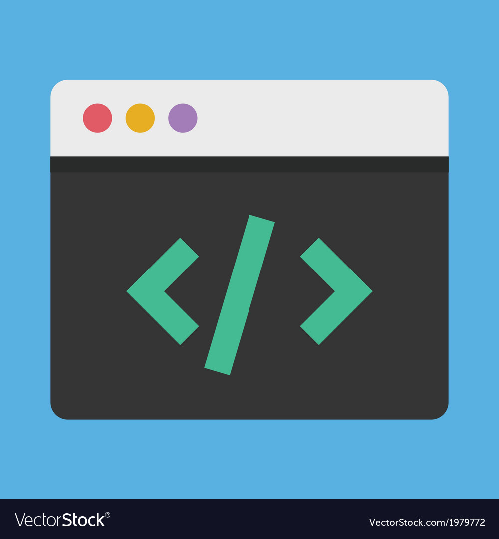 Coding icon vector | Price: 1 Credit (USD $1)