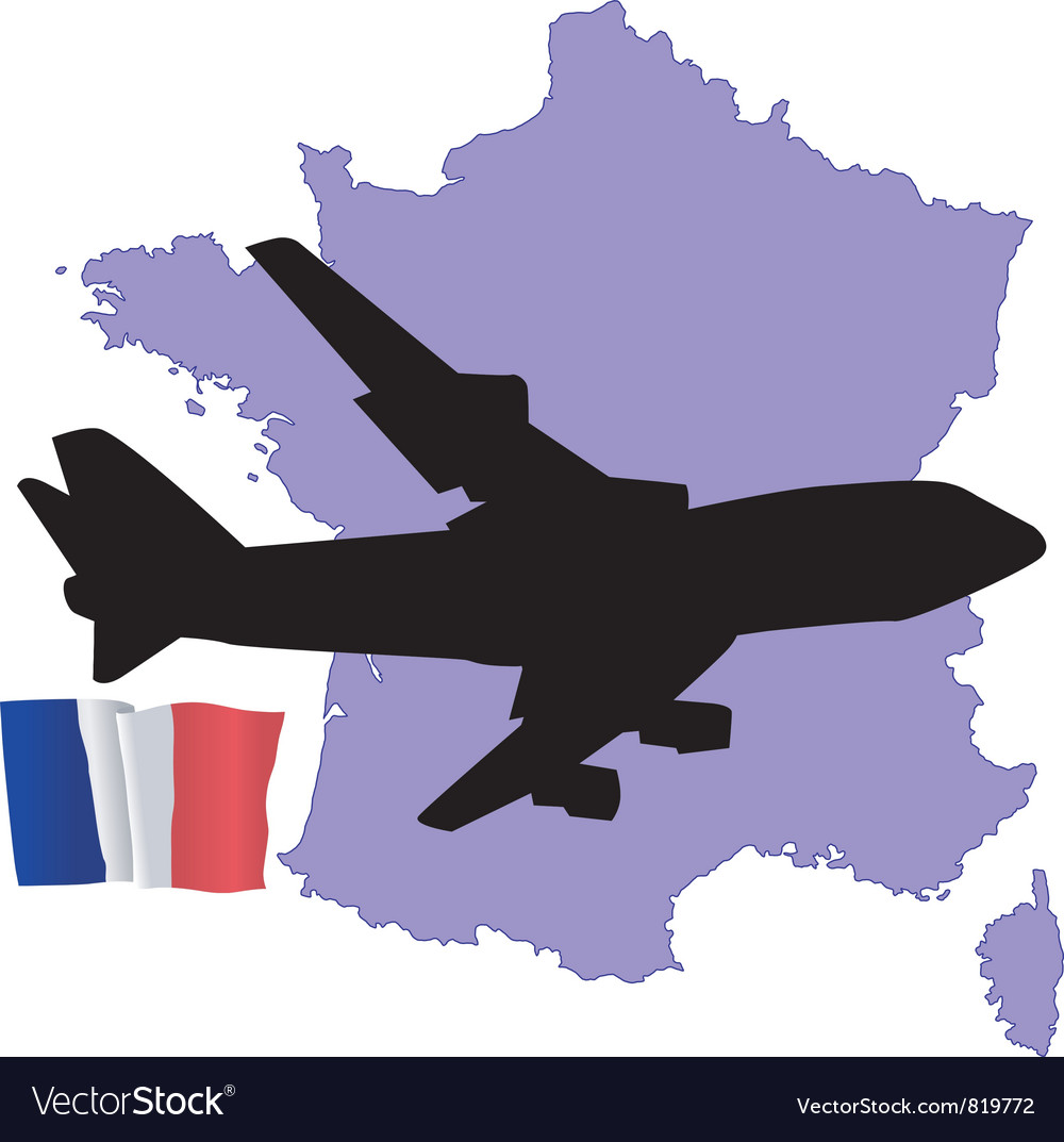 Fly me to the france vector | Price: 1 Credit (USD $1)