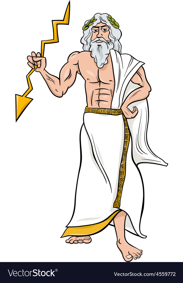 Greek god zeus cartoon vector | Price: 1 Credit (USD $1)