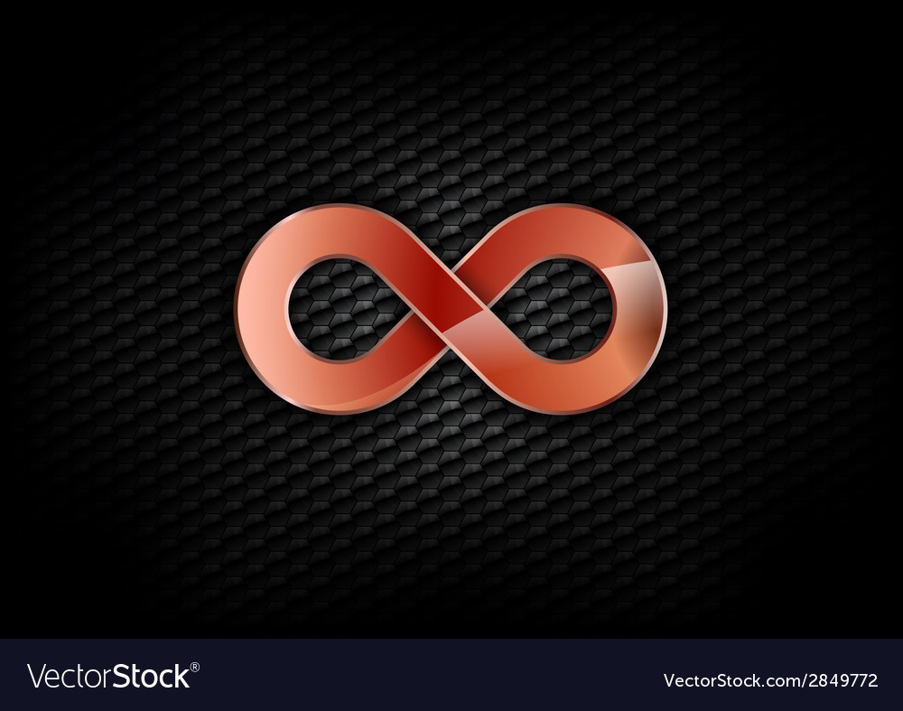 Infinity red dark vector | Price: 1 Credit (USD $1)