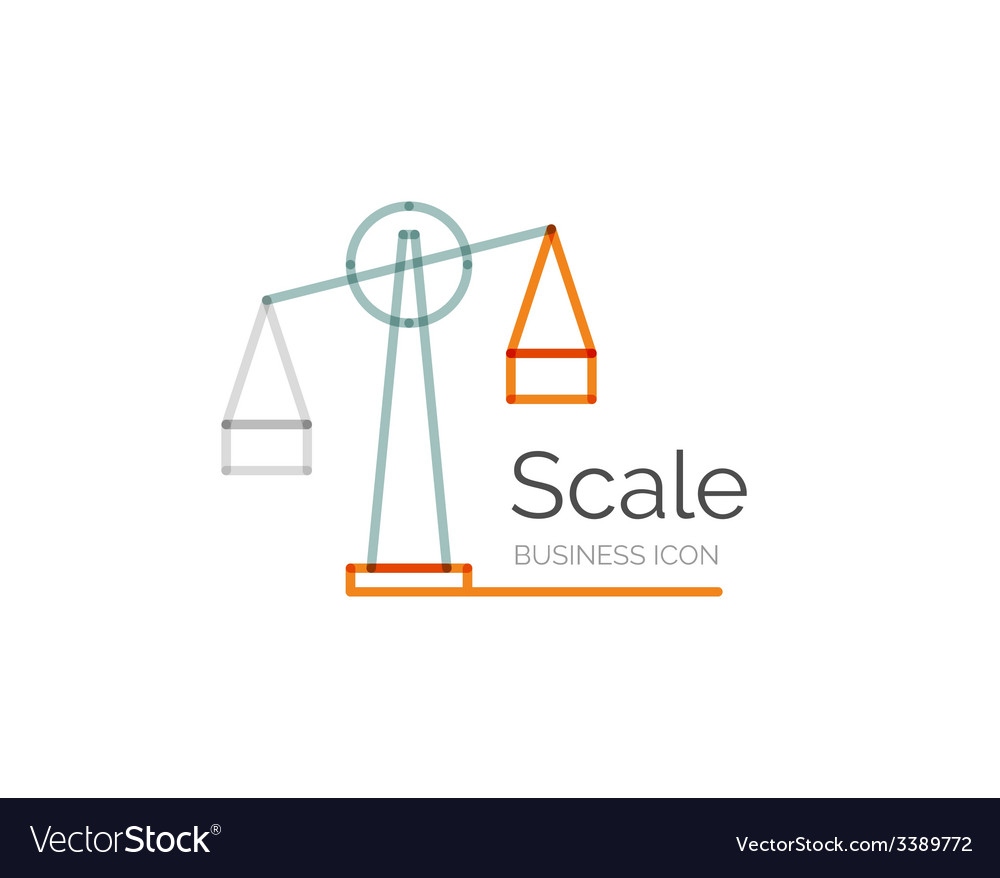 Line minimal design logo scale vector | Price: 1 Credit (USD $1)