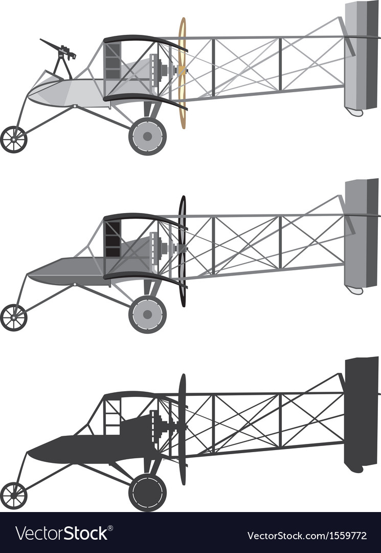 Model airplane retro biplane vector | Price: 1 Credit (USD $1)