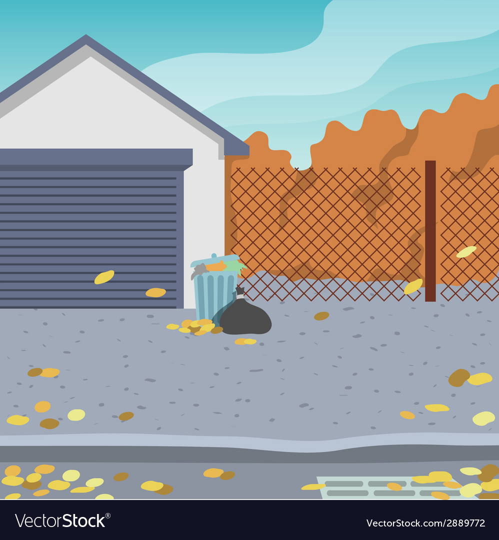 Outdoor street background vector | Price: 1 Credit (USD $1)