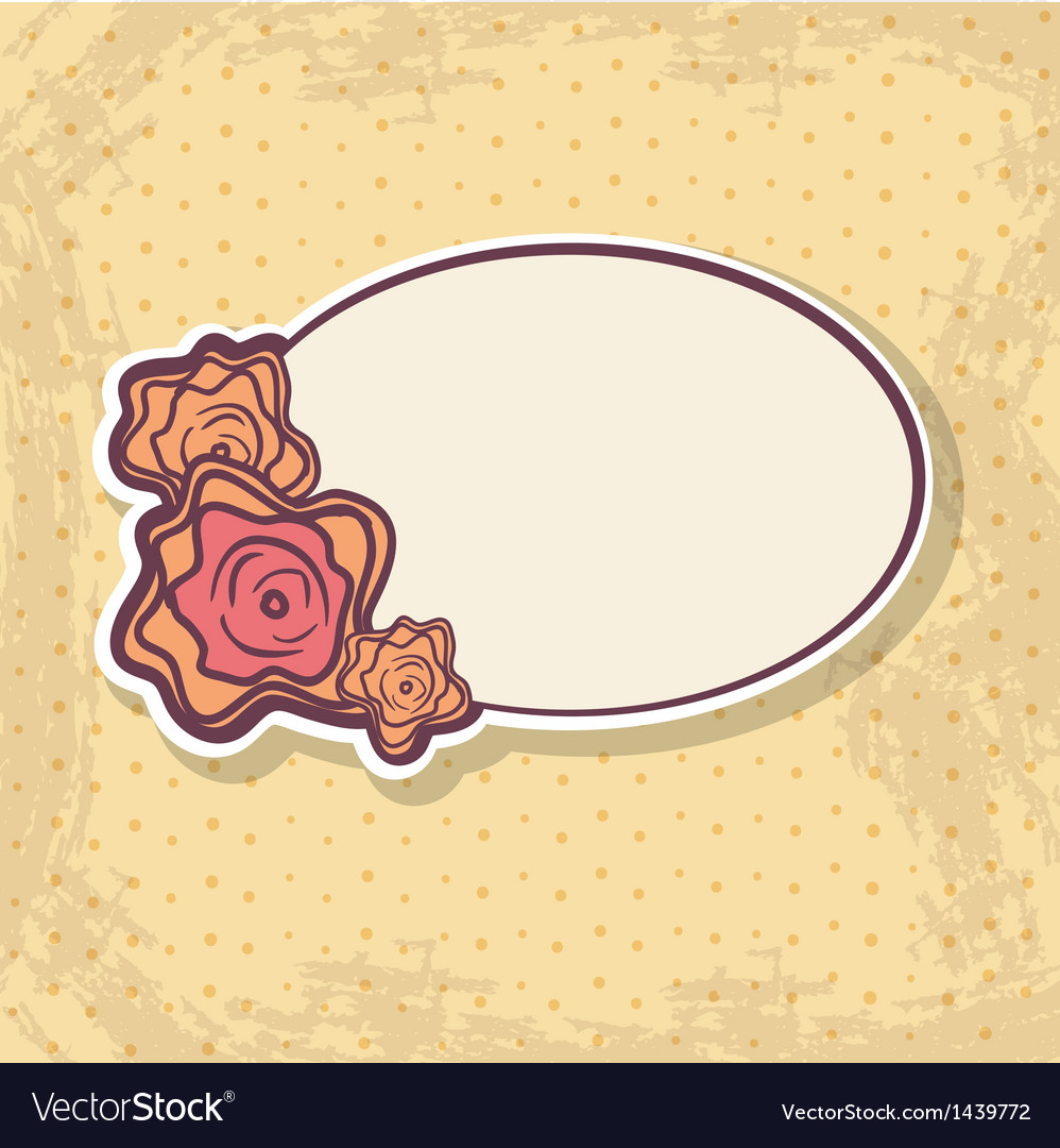 Retro frame on spotted background vector | Price: 1 Credit (USD $1)