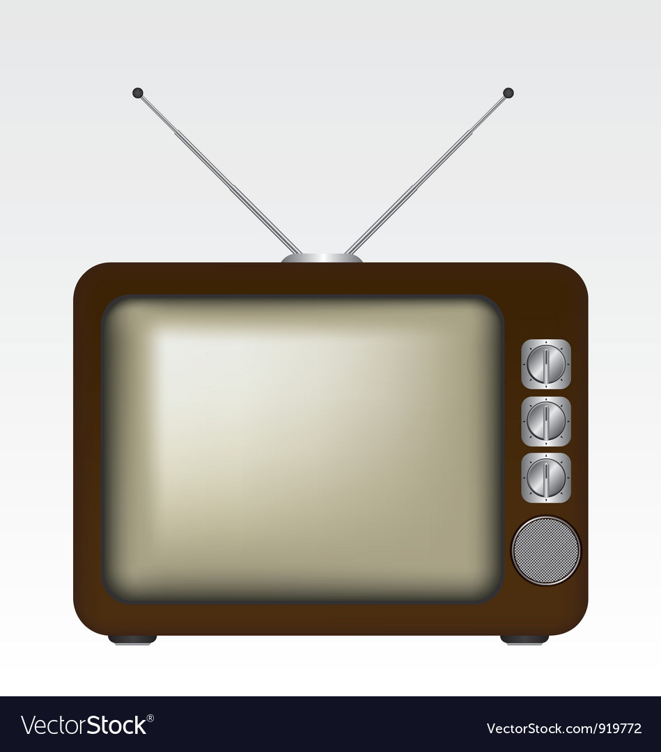 Retro tv vector   Price: 1 Credit (USD $1)