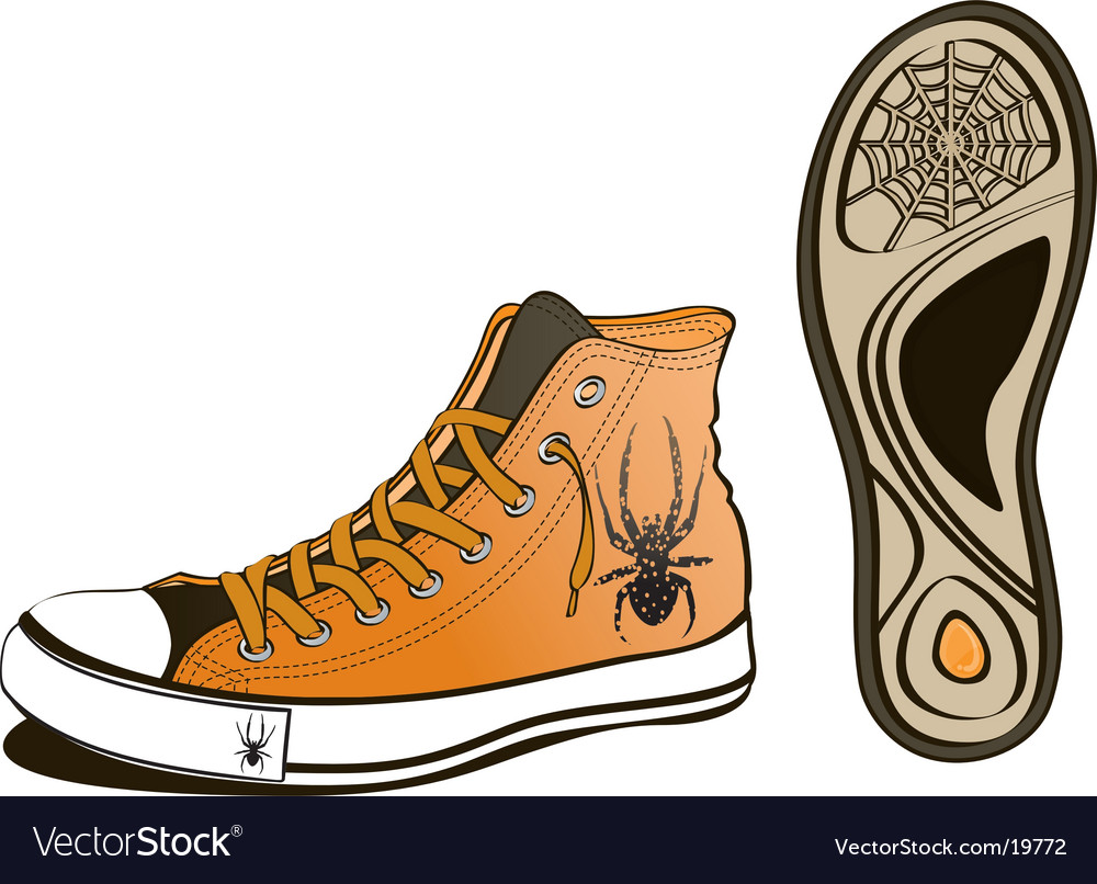 Spider shoe vector | Price: 1 Credit (USD $1)