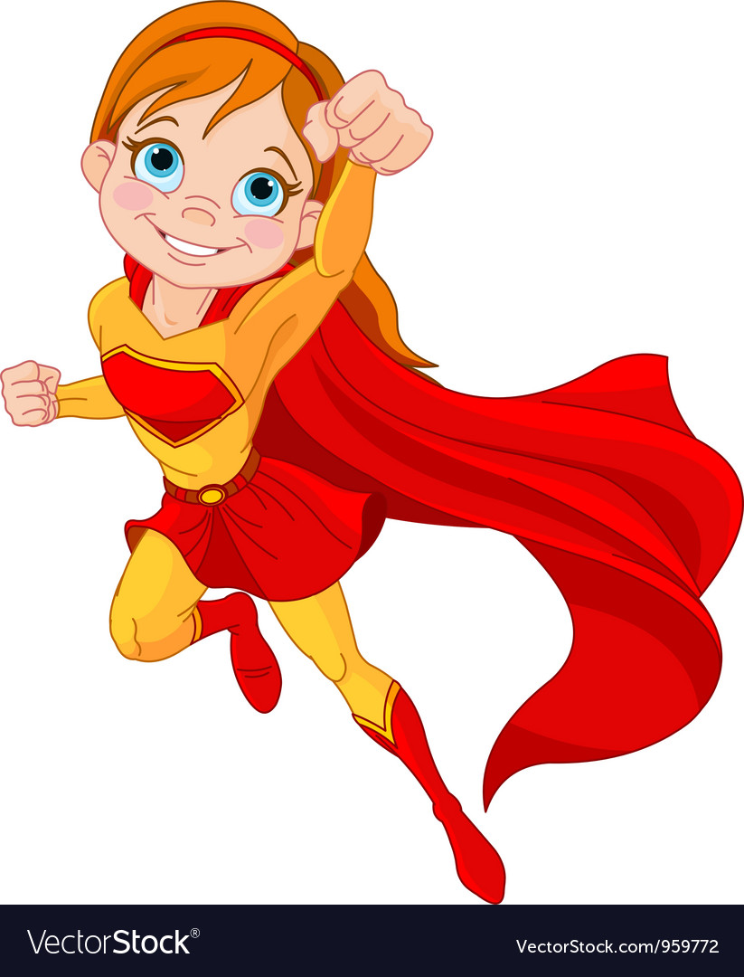 Super girl vector | Price: 3 Credit (USD $3)