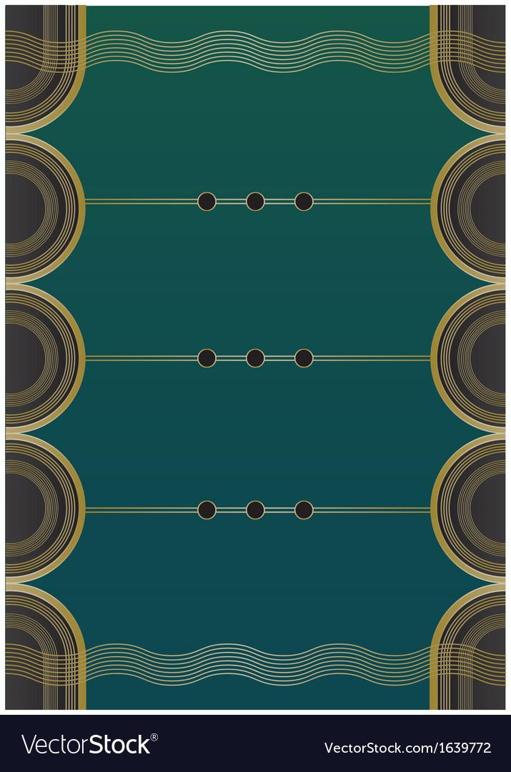 Waves art deco background vector | Price: 1 Credit (USD $1)