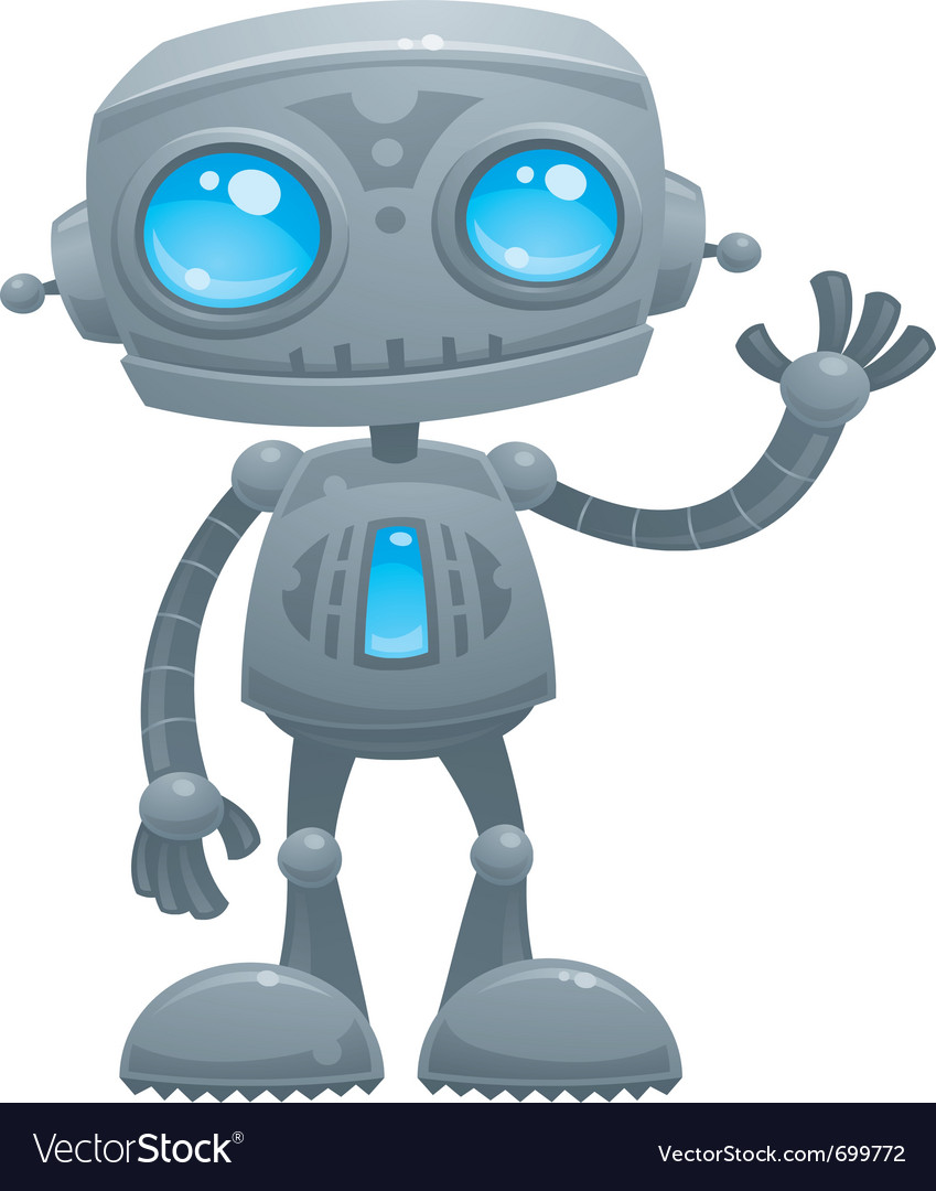 Waving robot vector | Price: 3 Credit (USD $3)