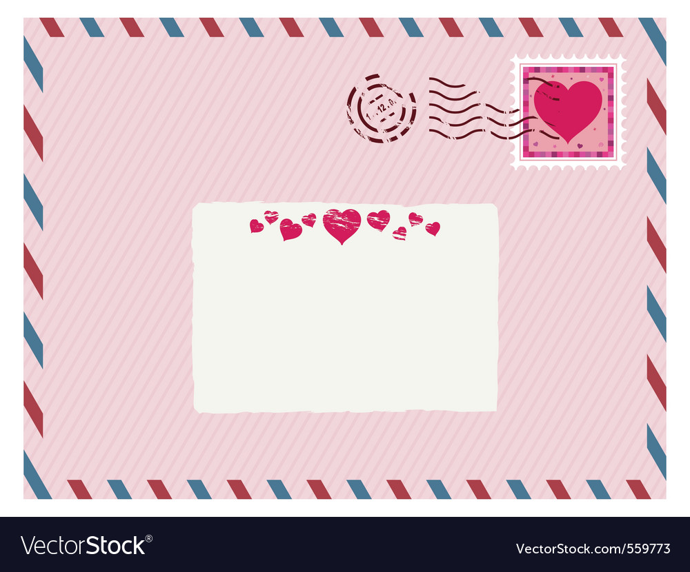 Airmail love envelope vector | Price: 1 Credit (USD $1)