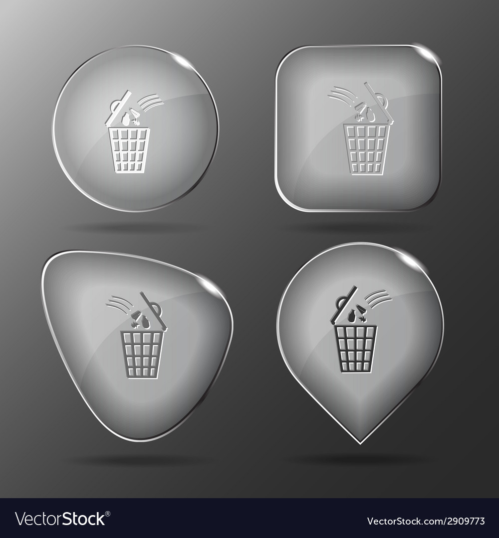 Bin glass buttons vector | Price: 1 Credit (USD $1)