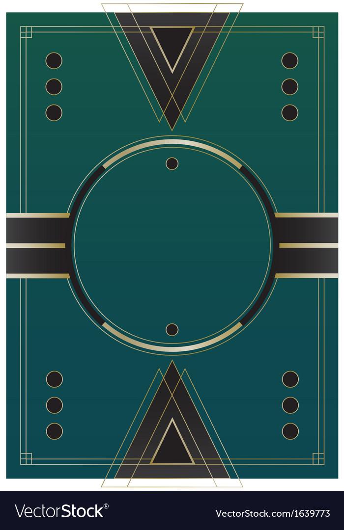 Circles art deco background vector
