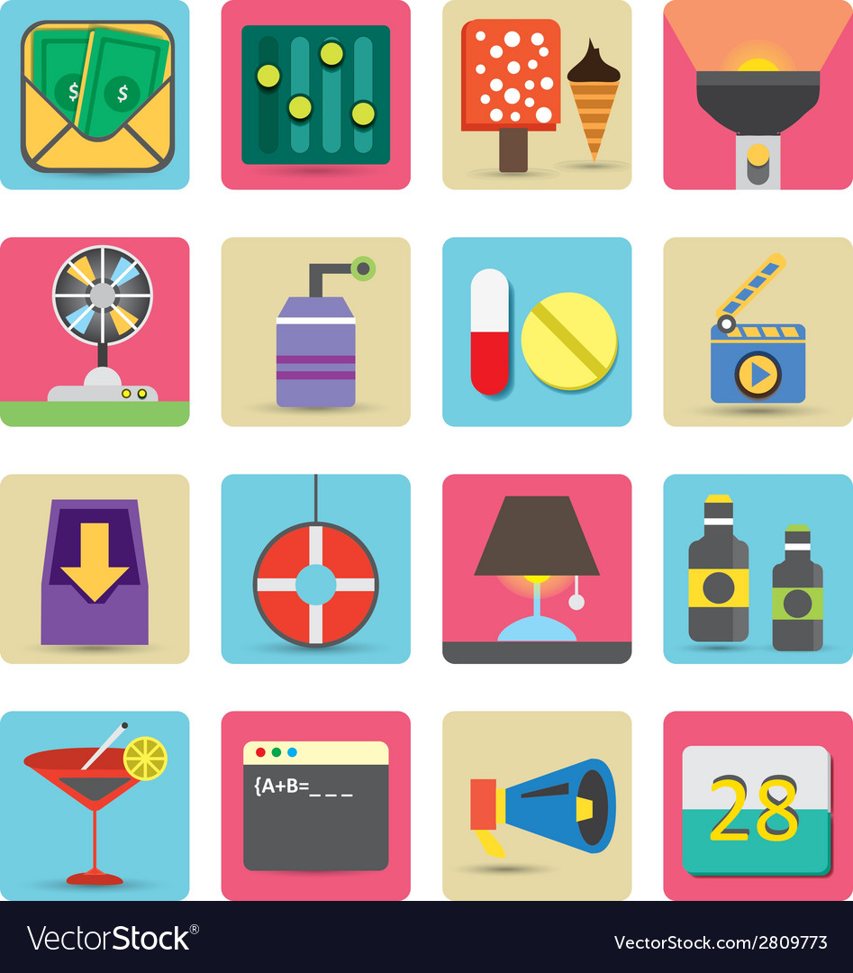 Fresh icons set 2 vector | Price: 1 Credit (USD $1)