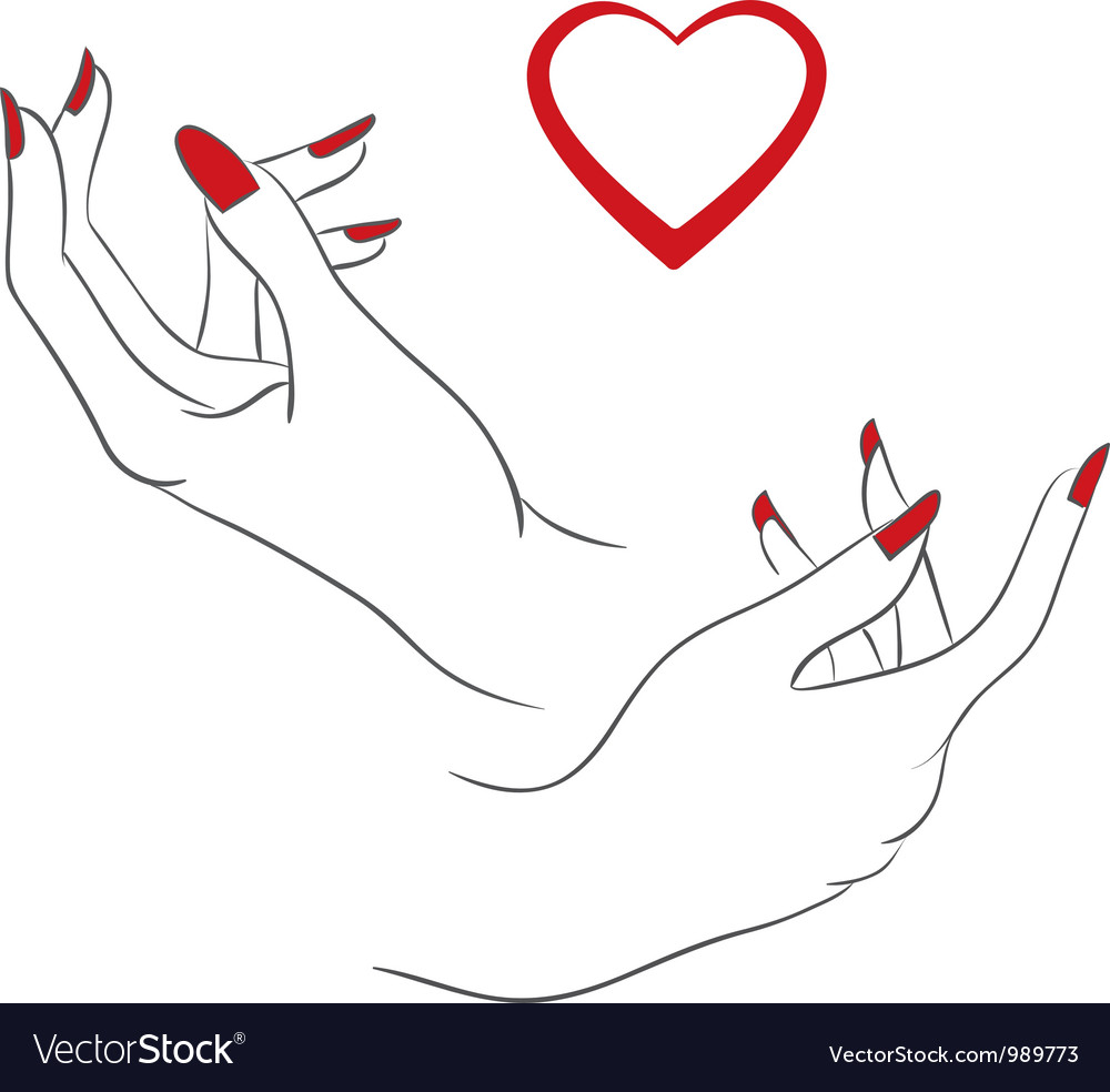 Hands love vector | Price: 1 Credit (USD $1)