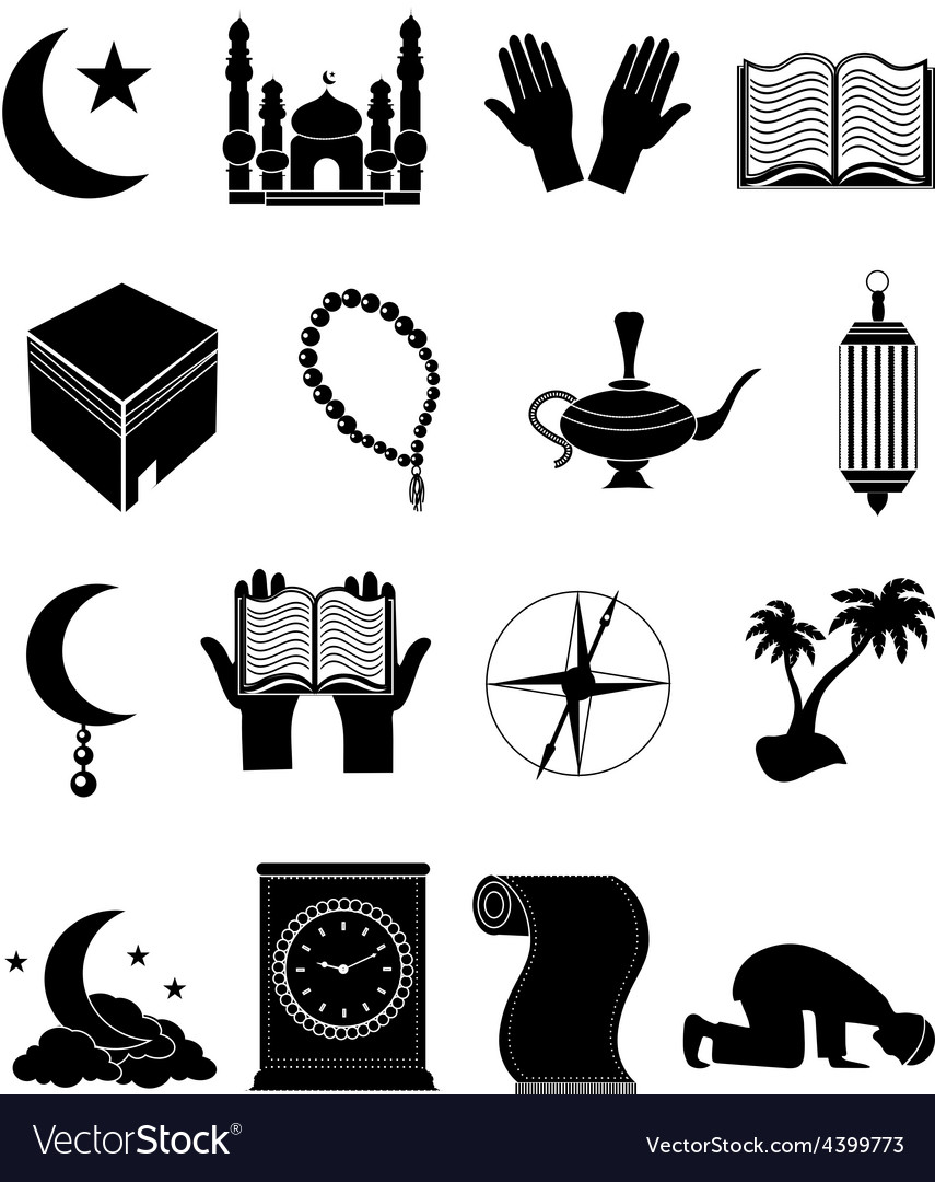 Islam icons set vector | Price: 3 Credit (USD $3)
