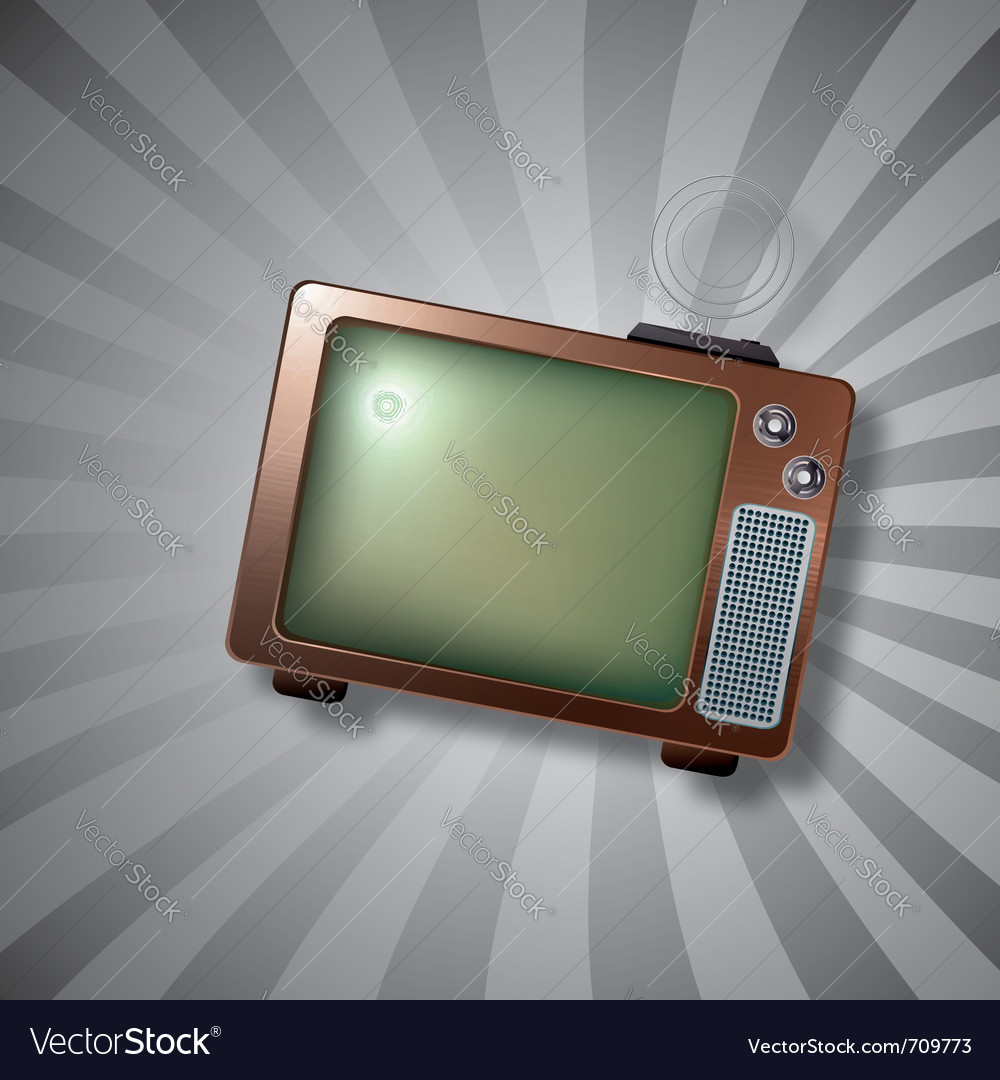 Retro tv antenna vector | Price: 1 Credit (USD $1)