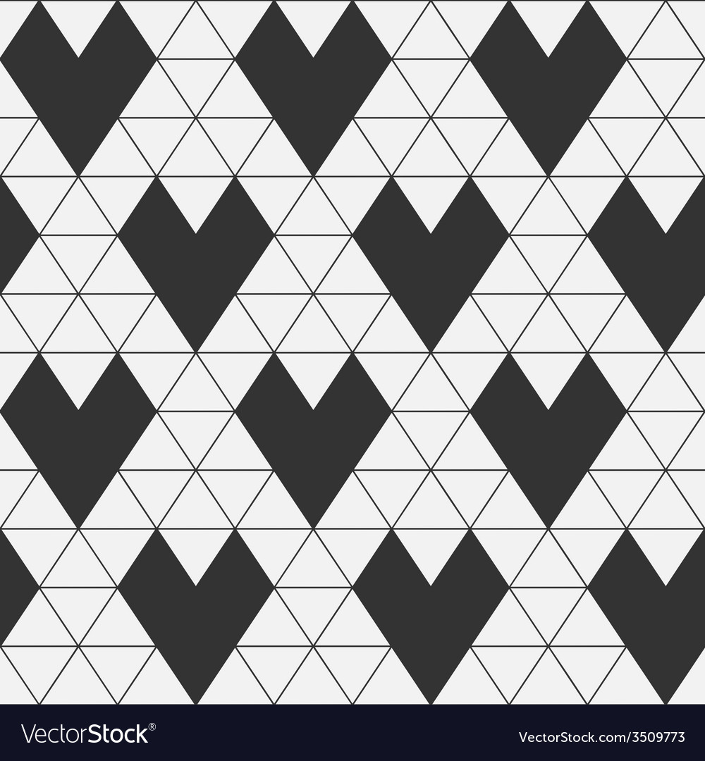 Seamless pattern - geometric hearts vector | Price: 1 Credit (USD $1)