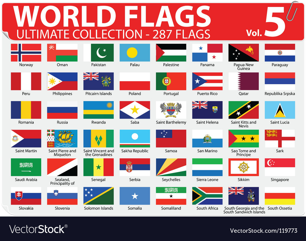 World flags  ultimate collection vector | Price: 1 Credit (USD $1)