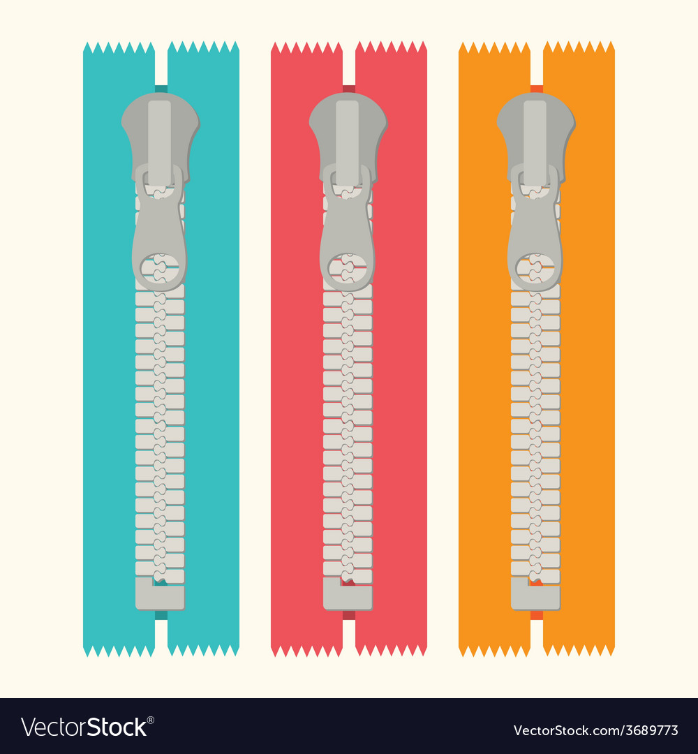 Zipper design vector | Price: 1 Credit (USD $1)