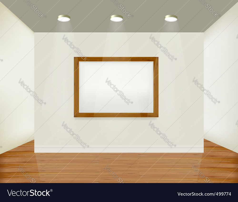 Empty white wall with picture vector | Price: 1 Credit (USD $1)