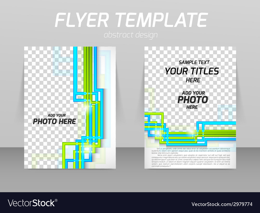 Flyer back and front design template vector   Price: 1 Credit (USD $1)