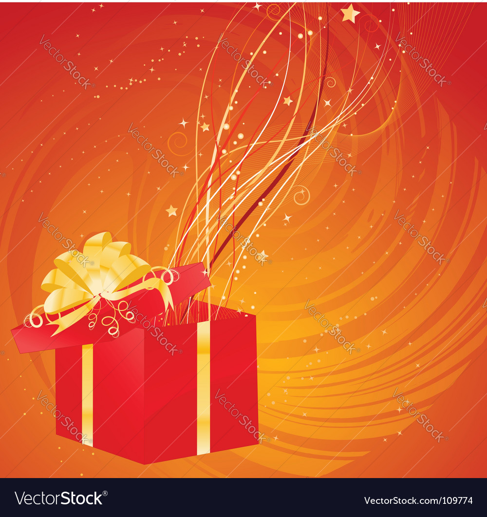 Magic christmas gift vector | Price: 1 Credit (USD $1)