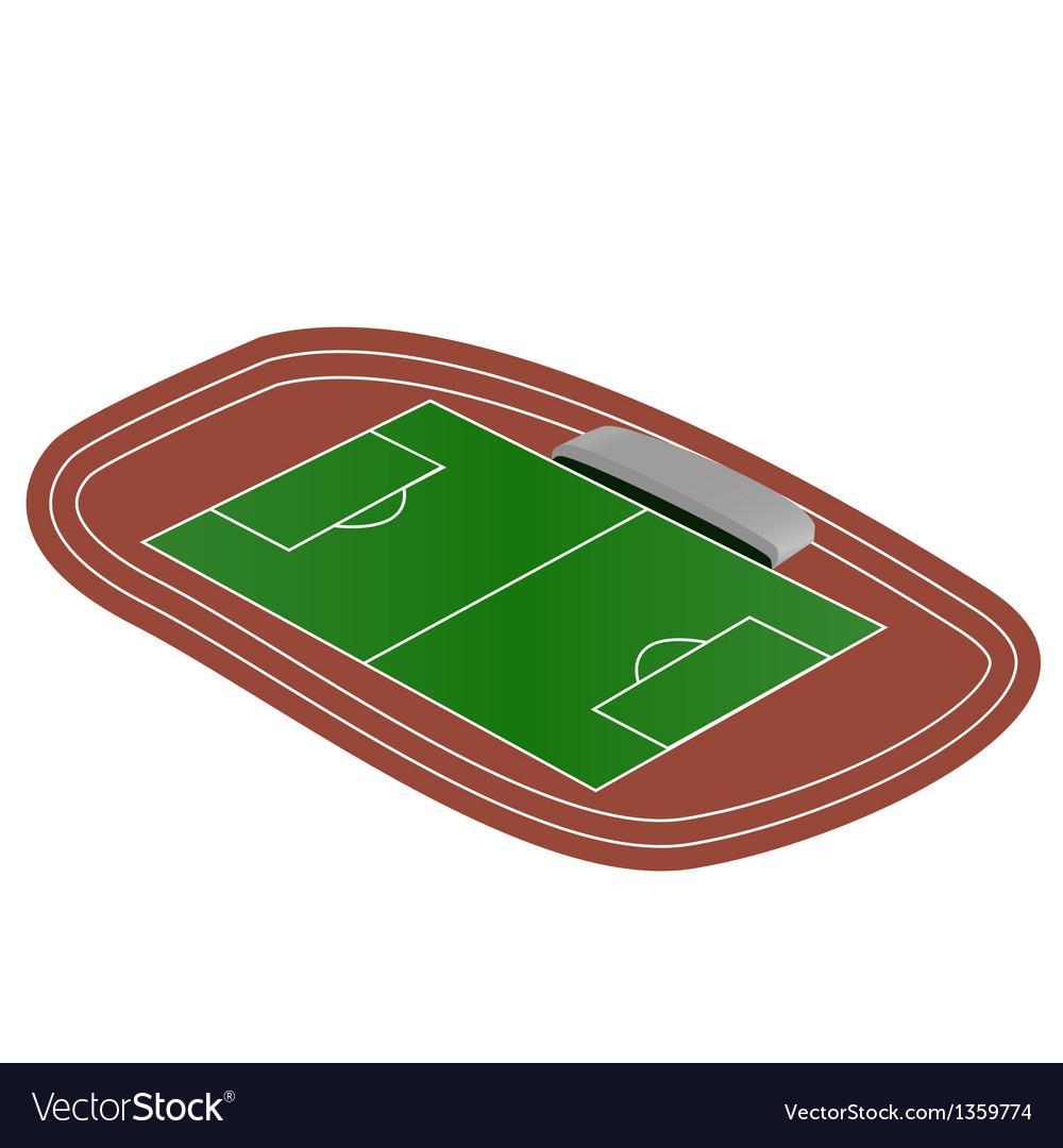 Mini soccer field vector | Price: 1 Credit (USD $1)
