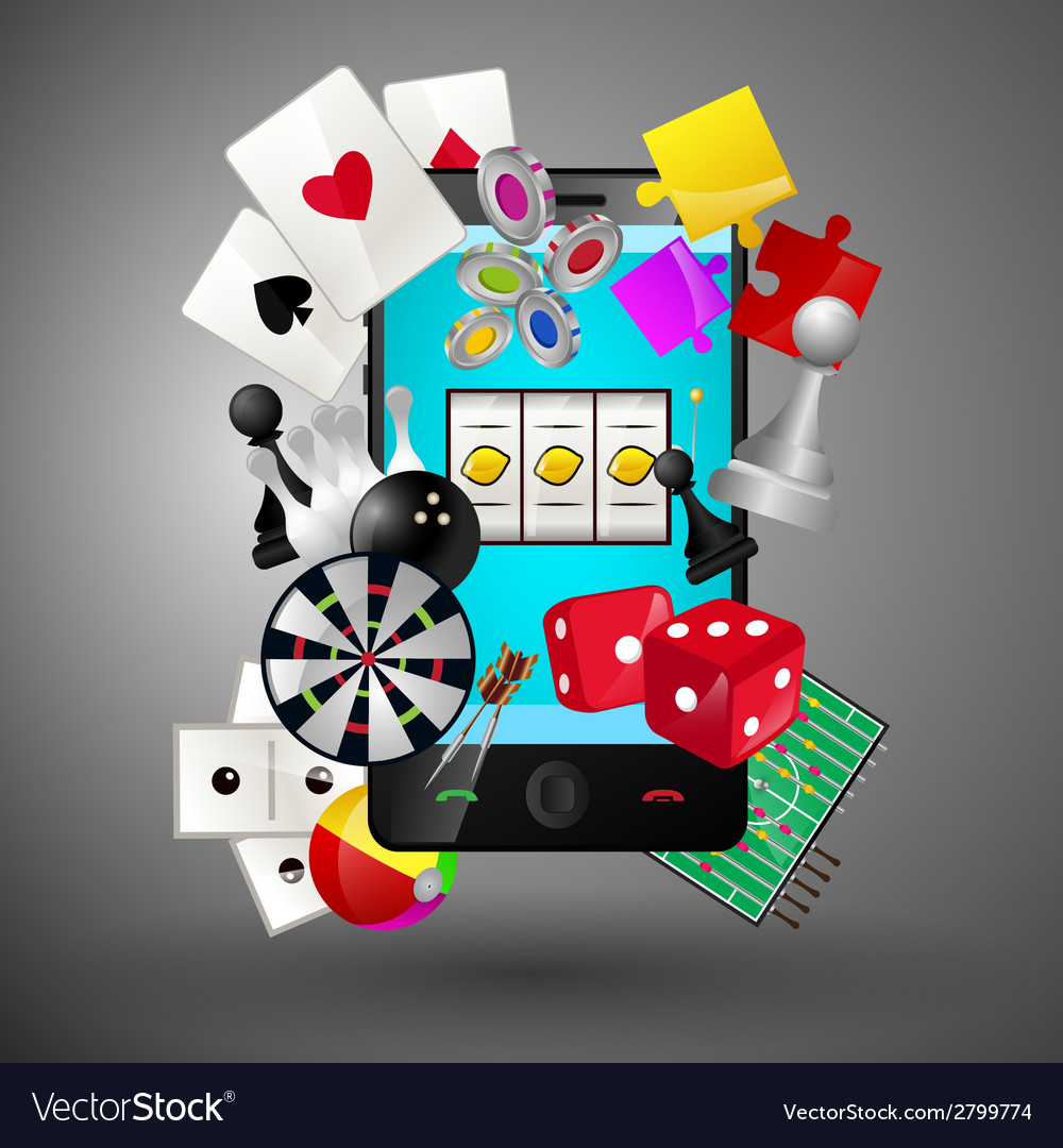 Mobile games concept vector | Price: 1 Credit (USD $1)