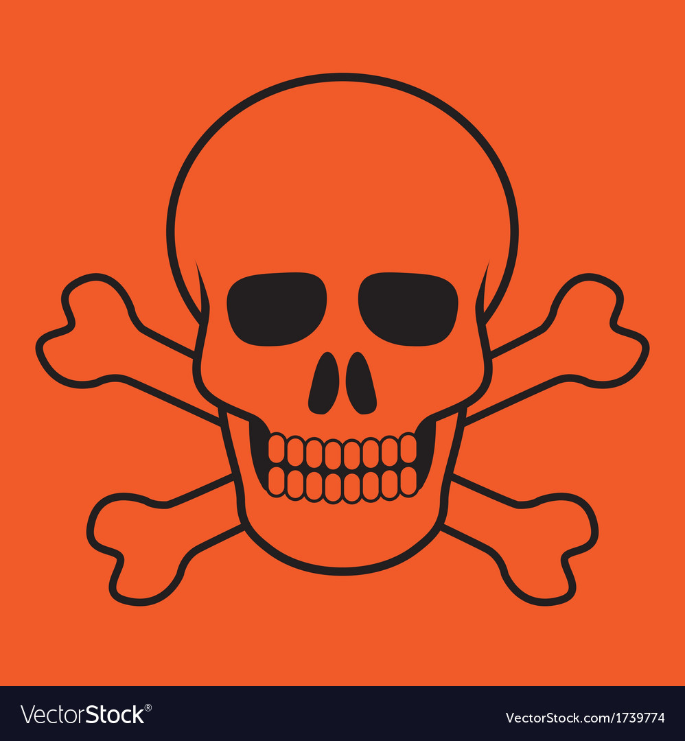 Scull and bones vector | Price: 1 Credit (USD $1)