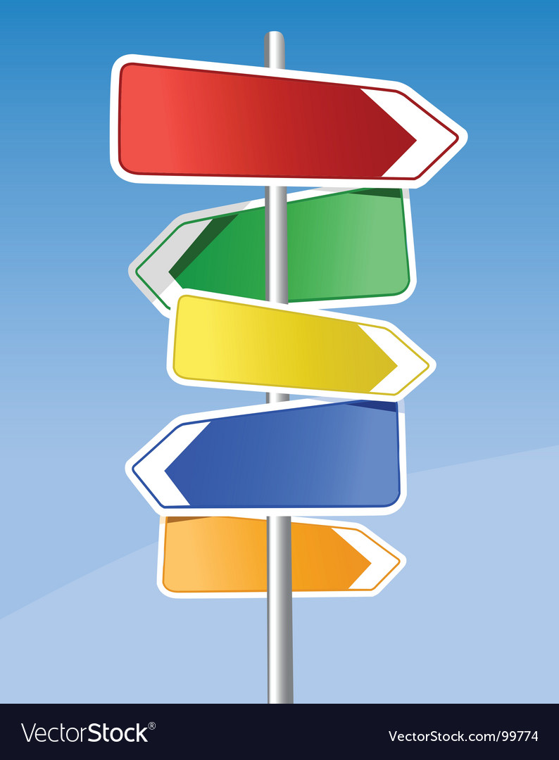 Signpost vector | Price: 1 Credit (USD $1)