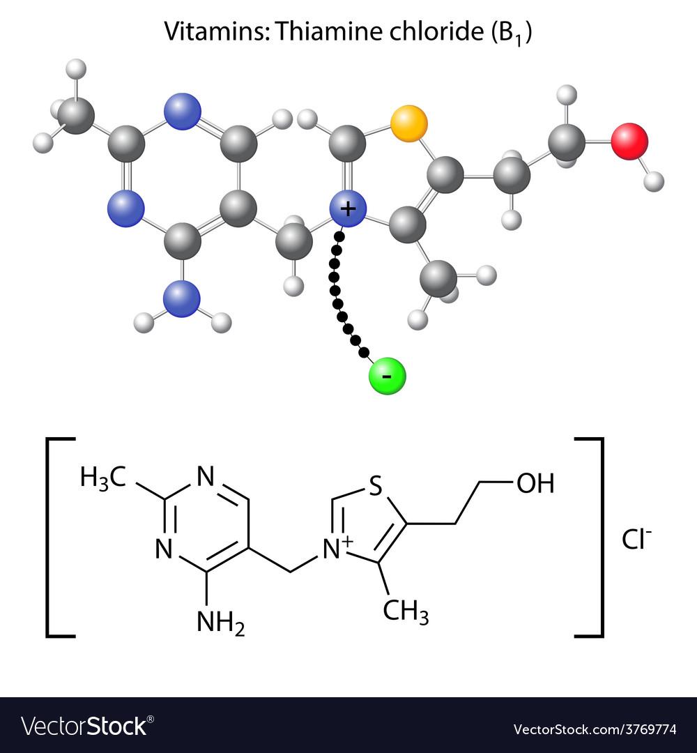 Thiamine chloride molecule - vitamin b1 vector | Price: 1 Credit (USD $1)