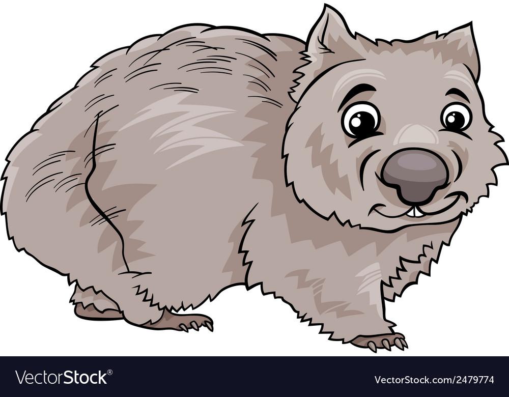 Wombat animal cartoon vector | Price: 1 Credit (USD $1)