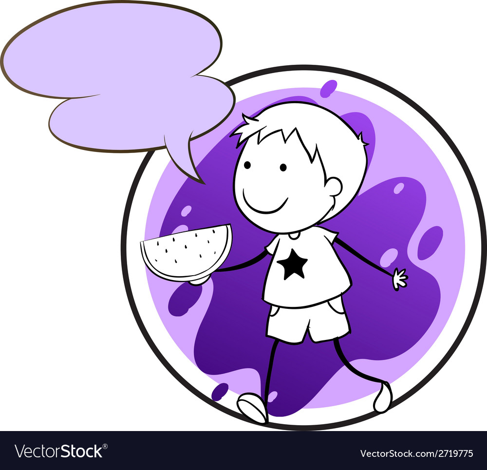 A lavender template with a boy holding a vector | Price: 1 Credit (USD $1)