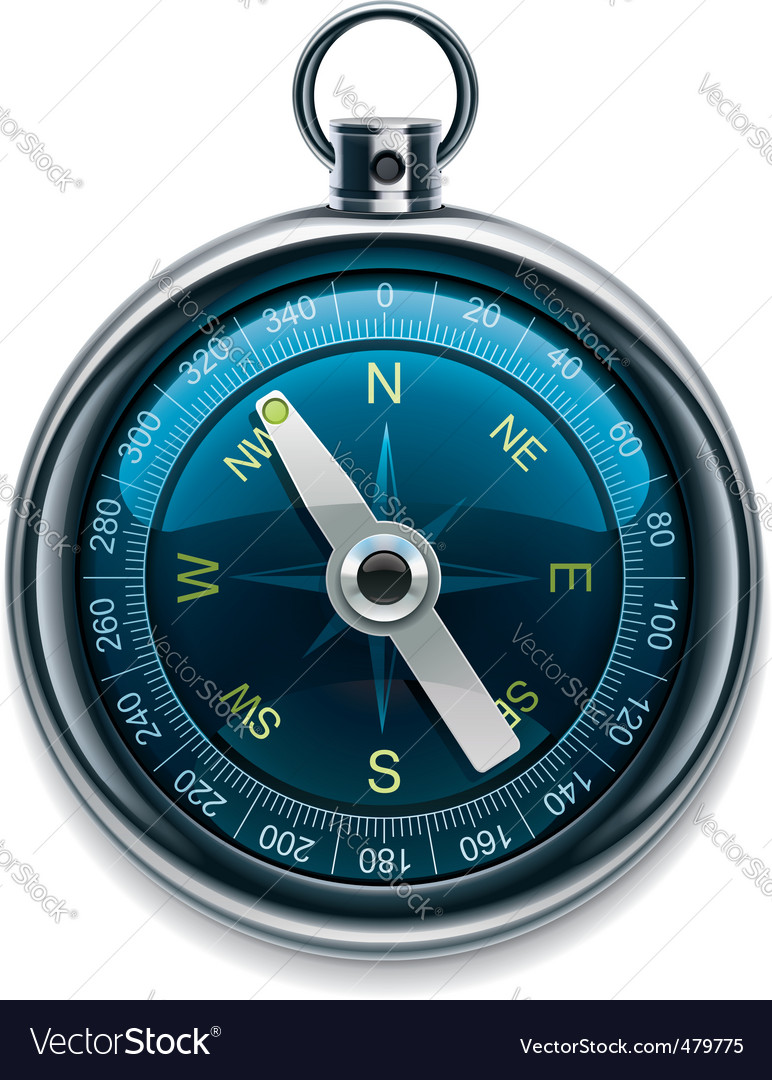 Compass icon vector | Price: 3 Credit (USD $3)