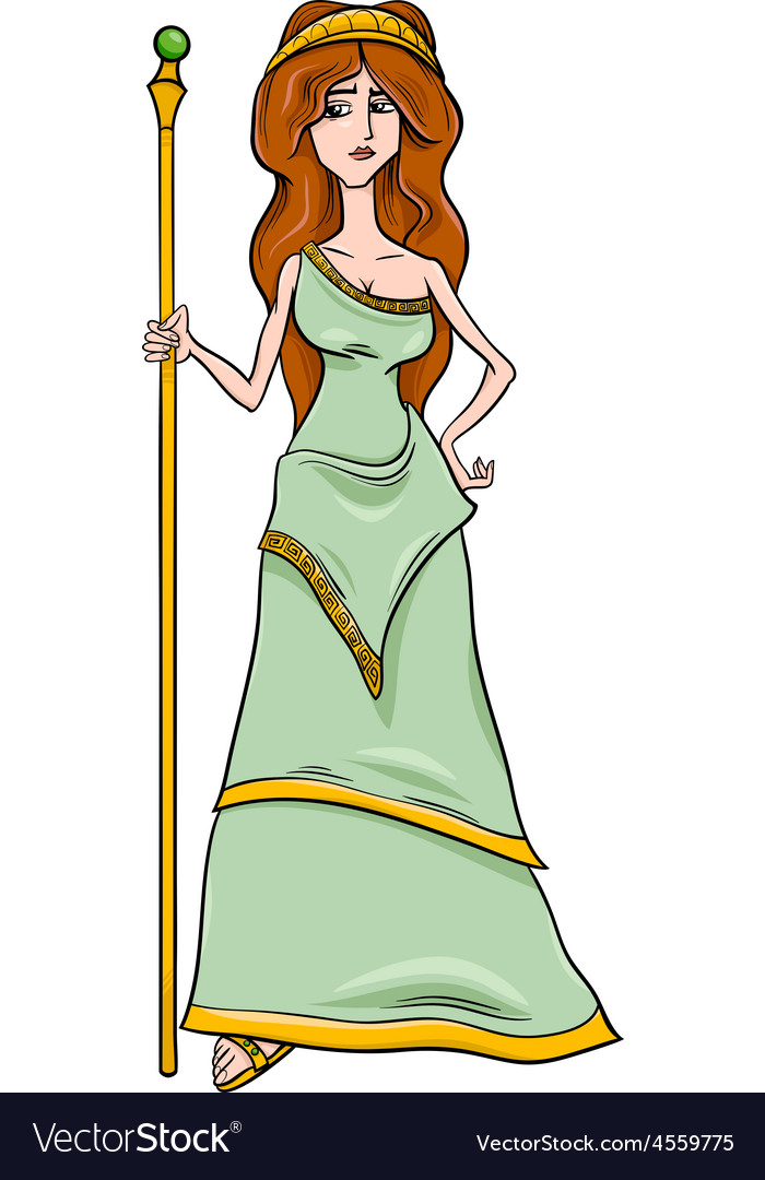 Greek goddess hera cartoon vector | Price: 1 Credit (USD $1)