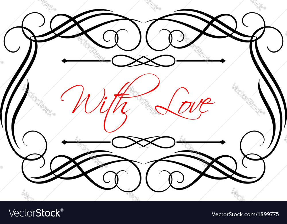 Love header vector | Price: 1 Credit (USD $1)