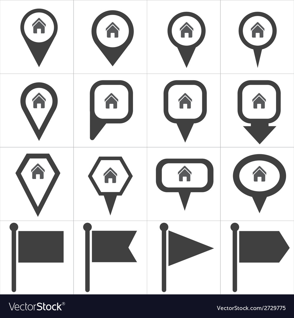 Navigation pin icon vector | Price: 1 Credit (USD $1)