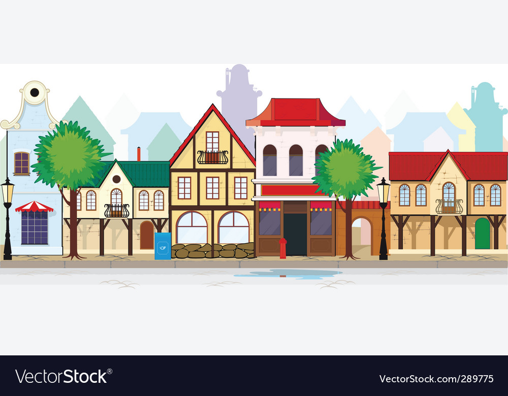 Small town vector | Price: 3 Credit (USD $3)