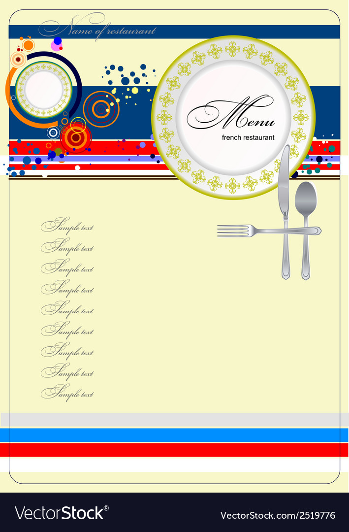Al 0329 french restaurant menu vector | Price: 1 Credit (USD $1)