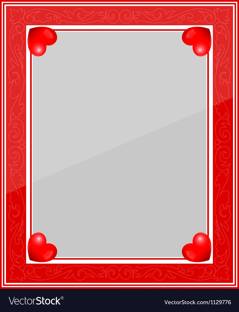Designer red photo frame vector | Price: 1 Credit (USD $1)