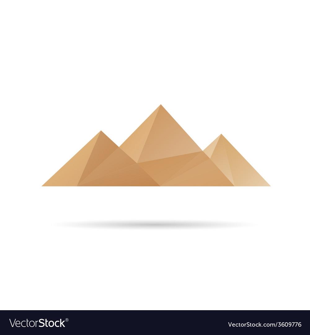 Egypt pyramids icon vector | Price: 1 Credit (USD $1)