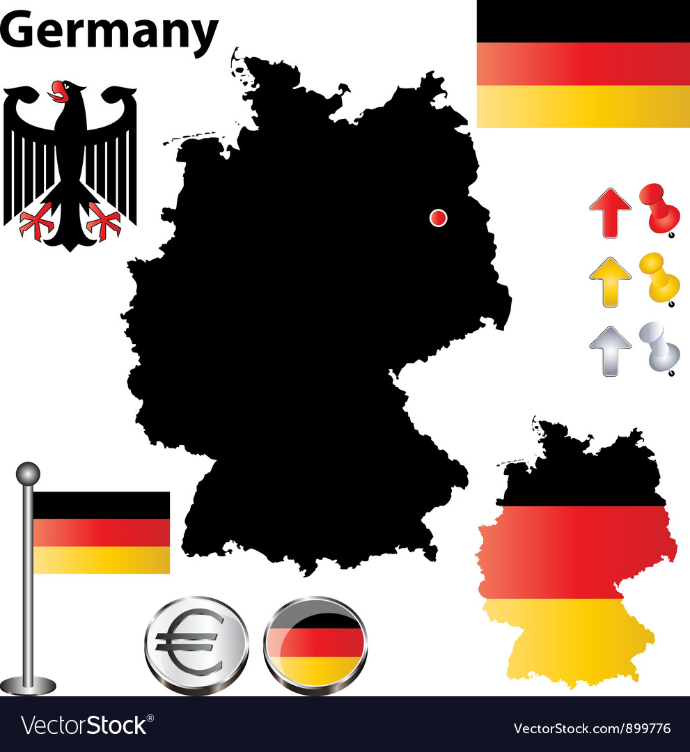 Germany flag small vector | Price: 1 Credit (USD $1)