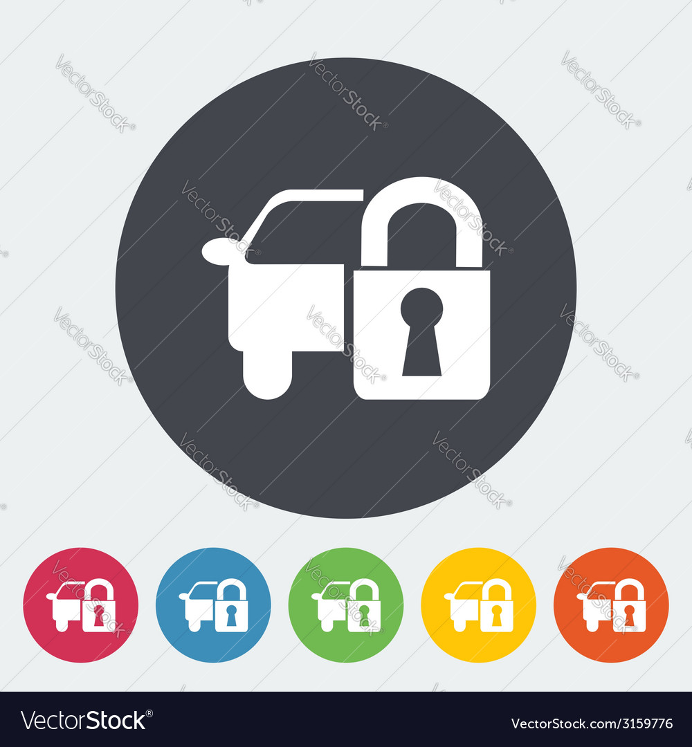 Locking car doors vector | Price: 1 Credit (USD $1)