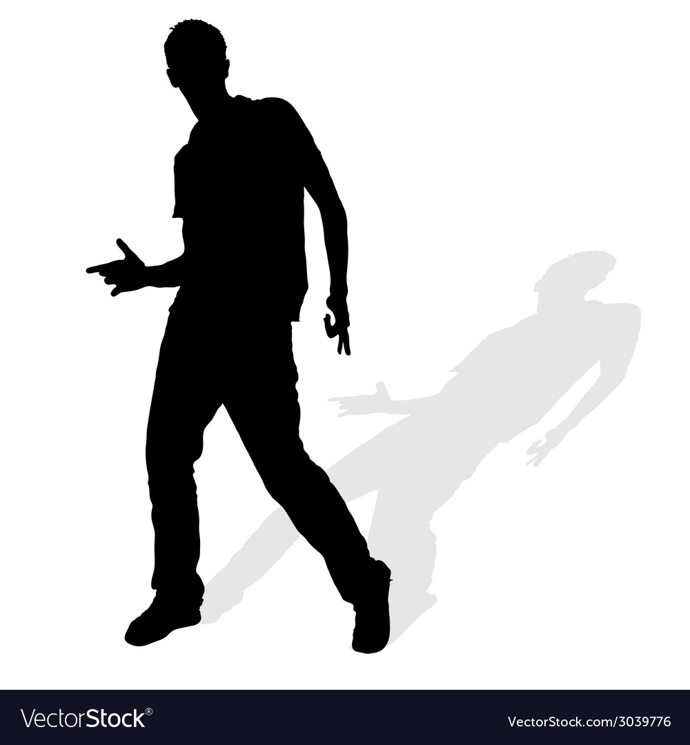 Man silhouette posing vector | Price: 1 Credit (USD $1)