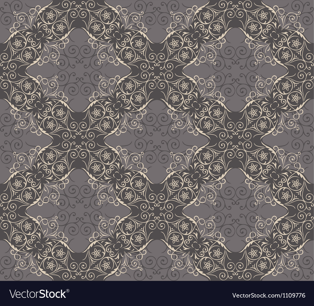 Seamless elegant lace pattern vector | Price: 1 Credit (USD $1)