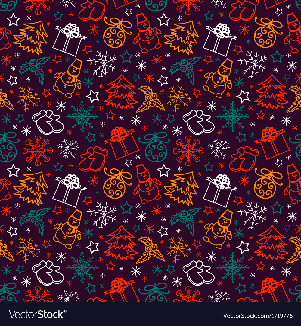 Seamless pattern joyful christmas vector | Price: 1 Credit (USD $1)